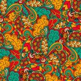 Floral doodle pattern Stock Images