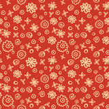 Floral doodle pattern Stock Photos