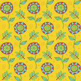 Floral doodle pattern Royalty Free Stock Photo
