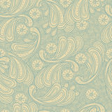 Floral doodle seamless background texture Stock Images