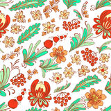 Floral doodle seamless Stock Photography