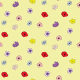 Floral doodle Seamless Pattern. Repetitive floral vector seamless pattern Royalty Free Stock Photography