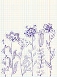 Floral doodles. Floral abstract doodles, scrapbooking page Stock Image
