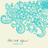 Floral doodles Royalty Free Stock Images
