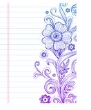 Floral doodles. Hand-Drawn vector Flower and Swirls Royalty Free Stock Photo