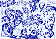 Floral Doodles Στοκ Εικόνα