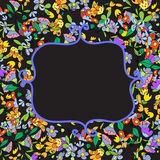 Floral doodles frame Royalty Free Stock Photo