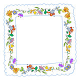 Floral doodles frame Stock Photo