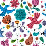 Floral Doodles Pattern Royalty Free Stock Images