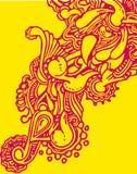 Floral στοιχείο Doole για το σχέδιό σας απεικόνιση αποθεμάτων