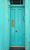 Floral door Royalty Free Stock Images
