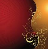 Floral dourado imagens de stock