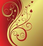 Floral dourado Fotos de Stock Royalty Free