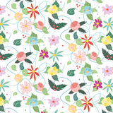Floral draw Royalty Free Stock Images
