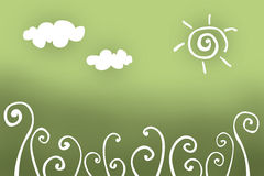 Floral drawing background Royalty Free Stock Image