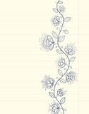 Floral drawing Stock Image