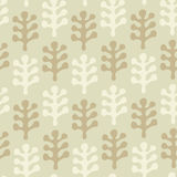 Floral  drawn seamless texture. Pattern with decorative leafs Stock Image
