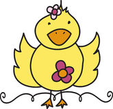 Floral Ducky Royalty Free Stock Photos