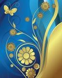 Floral e borboleta Fotografia de Stock Royalty Free
