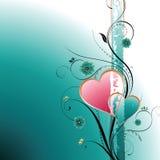 Floral e coração Imagens de Stock Royalty Free
