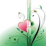 Floral e coração Fotos de Stock