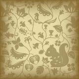 Floral e pássaro ilustração do vetor