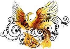 Floral e pássaro Imagens de Stock Royalty Free