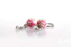 Floral earrings Royalty Free Stock Photo