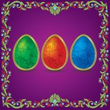 Floral Easter background Stock Photos