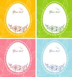 Floral easter background Stock Image