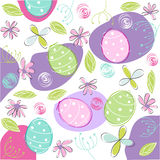 Floral, easter card Stock Photos