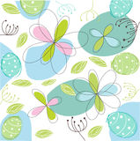 Floral, easter card Royalty Free Stock Photos