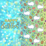 Floral easter card Stock Image