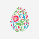 Floral easter color egg background. Stock Photography