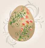Floral easter egg. Easter egg decorated with flowers stock illustration