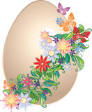 Floral easter egg. Easter egg decorated with flowers vector illustration