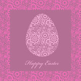 Floral easter egg Stock Photo