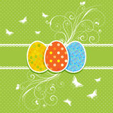Floral Easter Egg Background Stock Photos