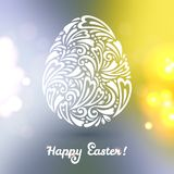 Floral Easter egg background made of doodle Royalty Free Stock Photography