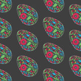 Floral easter egg background. Royalty Free Stock Images