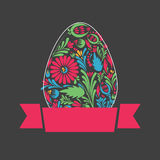 Floral easter egg background. Royalty Free Stock Photo