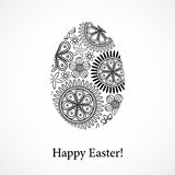 Floral Easter egg isolated Stock Images