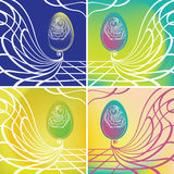 Floral easter egg. Vector background Royalty Free Stock Photo