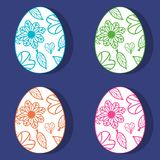 Floral Easter eggs Royalty Free Stock Photo