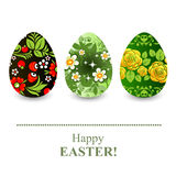 Floral easter eggs Stock Image