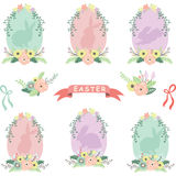 Floral Easter Eggs. A Vector Illustration of Floral Easter Eggs stock illustration