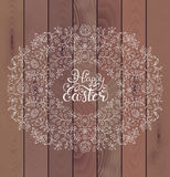 Floral easter frame Royalty Free Stock Photo