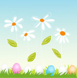 Floral, easter greeting card Stock Images