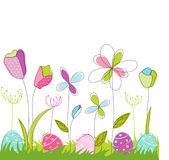Floral, easter greeting card Stock Photos