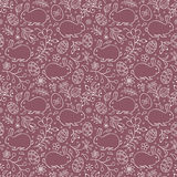 Floral easter pattern Stock Photo